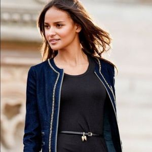 Victoria's Secret Denim Dark Wash Jacket